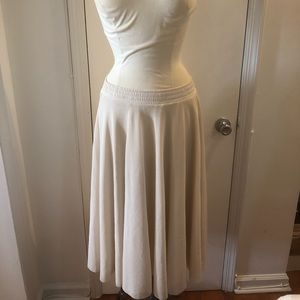 H&M Ivory Full Stretch Tull Skirt - X-Small